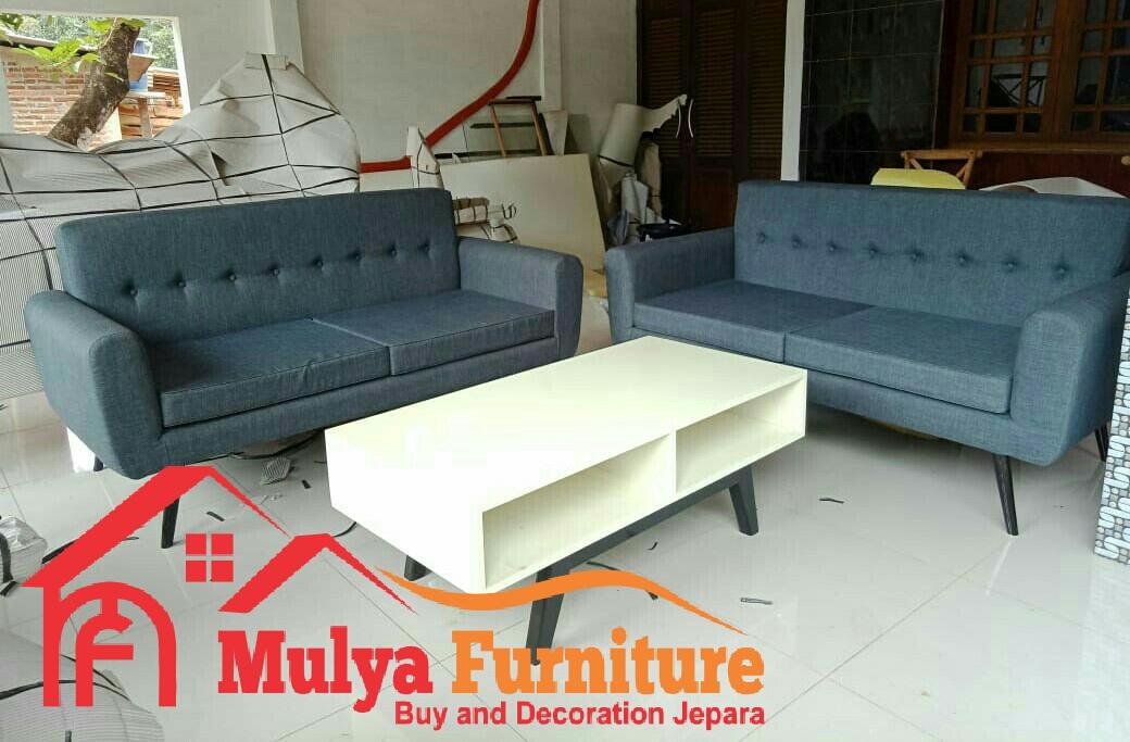 Kursi Tamu Minimalis Modern Scandinavian Kayu Jati Mulya Furniture Fepara Set Ruang Tamu Mfj 017 Mulya Furniture Jepara